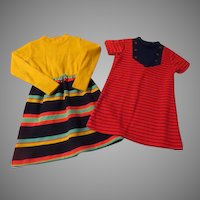 Striped Little Girl Dresses Size 6