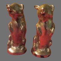 Metal Pigs on 2 Feet Salt and Pepper Shakers
