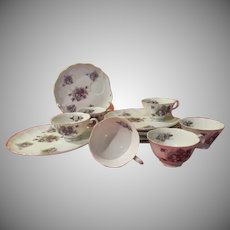 Lefton Violets Luncheon Set - b230