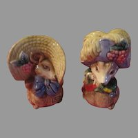 Fitz and Floyd Mice with Big Hats Salt and Pepper Shakers - JSP