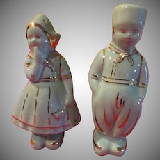 Coy Mrs Dutch Couple Salt and Pepper Shakers - JSP
