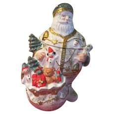 Dayton Hudson Marshall Field's Santa 1992 Cookie Jar in Box
