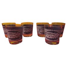 Currier & Ives On the Rocks Glasses - B230