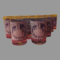 Currier & Ives Juice Glasses - B230
