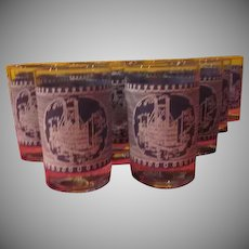 Currier & Ives Juice Glasses - B230
