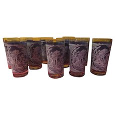 Currier & Ives Tumblers - b230
