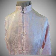 Petal pink Frog Close Mandarin Collar Lounging Pajamas