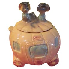 Brush Cinderella Pumpkin Carriage Cookie Jar W32