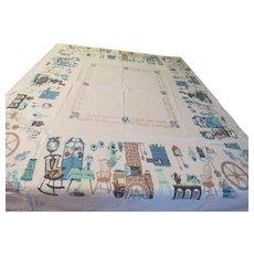Comfy Homey Print Tablecloth - b230