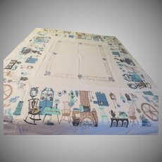 Comfy Homey Print Tablecloth - b230
