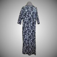 Black and White Print Caftan
