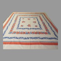 Pink and Blue Print Cloth - b230