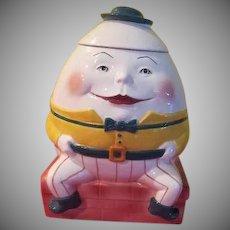 Clay Art Humpty Dumpty Cookie Jar