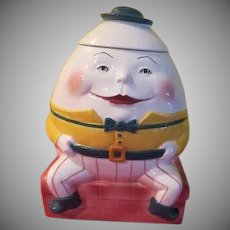 Clay Art Humpty Dumpty Cookie Jar