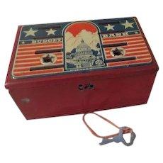 Marx Toys Metal Stars and Stripes Budget Bank - B235