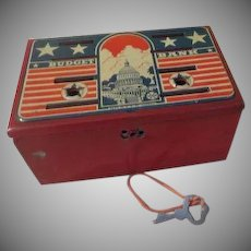 Marx Toys Metal Stars and Stripes Budget Bank - B235