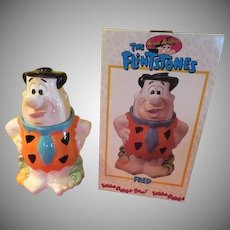Yabba Dabba Do Fred Flintstone Cookie Jar in Box