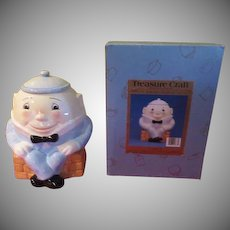 Treasure Craft Humpty Dumpty Cookie Jar in Box