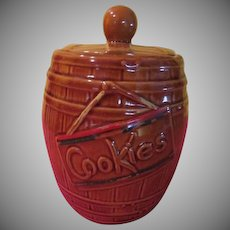 America Bisque Cookies Barrel Cookie Jar