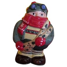 Hit the Slopes Mountain Skier Cookie Jar