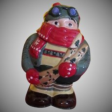Hit the Slopes Mountain Skier Cookie Jar