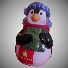 Penguin with Present Cookie Jar
