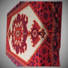 Bohemian Chic Red Fringe Tablecloth - b230