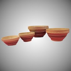 Robinson Ransbottom Brown Band Nesting Bowls - G