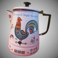 Berggren Enamel Rooster Coffee Pot - g