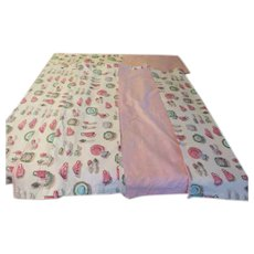 Perky Cups and Saucers Pink Cafe Curtains and Valance -  b232