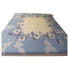 Blue Hibiscus Print tablecloth - b230