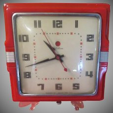 Red Telechron Wall Clock - b231