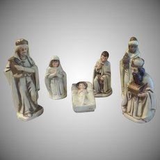 6 Piece Paper Mache Nativity Set