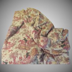 Chicly Country Tally Ho Hunting/rural Scene  X-long Drapery Panels