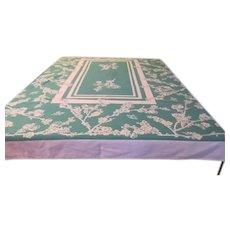 Green Print Tablecloth - b234