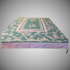 Green Print Tablecloth - b234