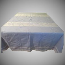 Blue Squared Woven tablecloth - b234