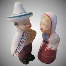 Kissing Senorita and Senor Salt and Pepper Shakers - b237