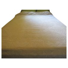 King Size Crocheted Bed Cover - L3