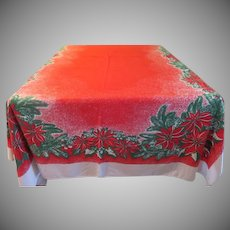Mostly Red Poinsettia Tablecloth - b234