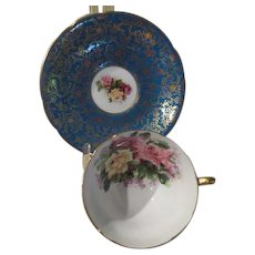Stanley Bone China Roses Cup and Saucers - b232