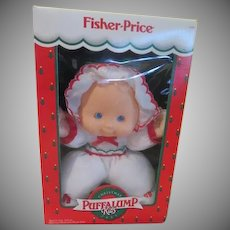 Fisher Price Puffalump Kid Christmas doll in Box - b235