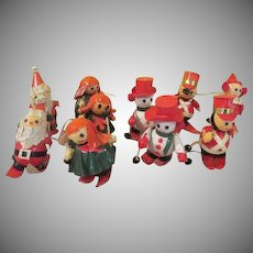 Paper Mache Ski Patrol Christmas Ornaments - B235