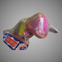Pinocchio Shape Deluxe Party Hats with Feathers in Package.