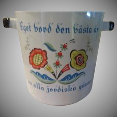 Swedish Folk Printed Enamel Pasta Pot