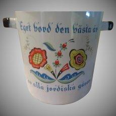 Swedish Folk Printed Enamel Pasta Pot