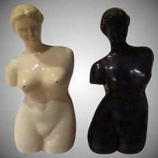 Black and White Venus Torso Salt and Pepper Shakers - b237