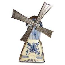 Delft Blue Dutch Windmill Music Box - b240