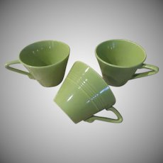 Homer Laughlin Harlequin Chartreuse Cups - b236