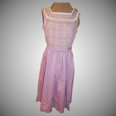 Pin Tucks and LAce Lilac Shirtwaist